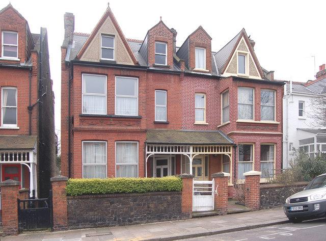 Victorian houses in Baldwyn Gardens, Acton, W3
