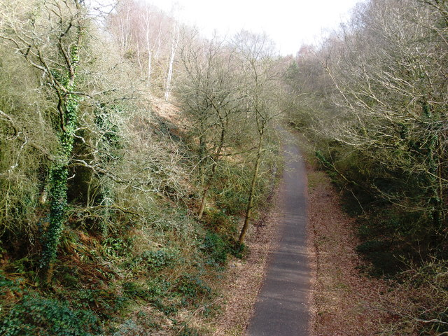 Cutting, on former Exmouth to Budleigh branch line