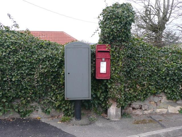 Post box in Hutton
