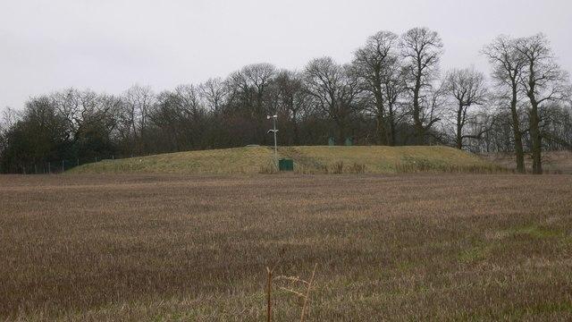 Reservoir in field