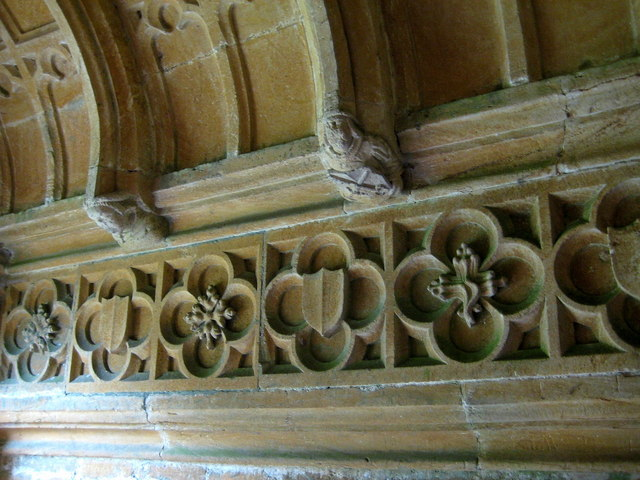 Wall of porch - Odcombe Church