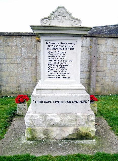 War Memorial - Higher Odcombe