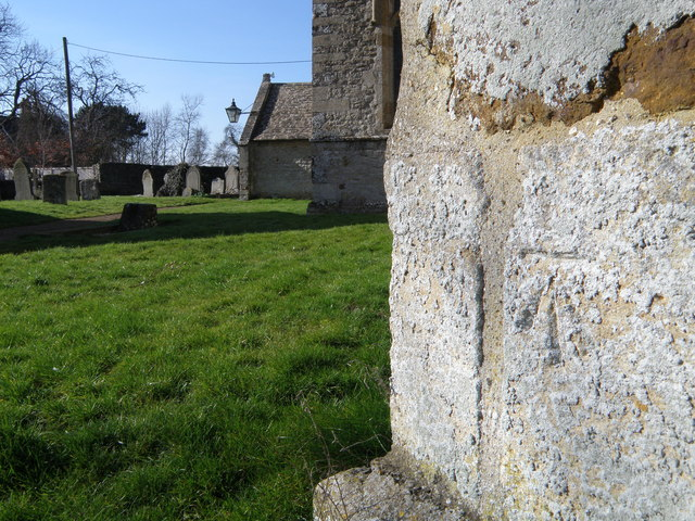 Bench Mark and Church Porch