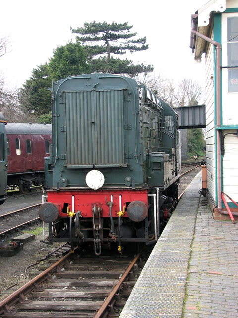 Sheringham - the old railway station / D3940 Loco