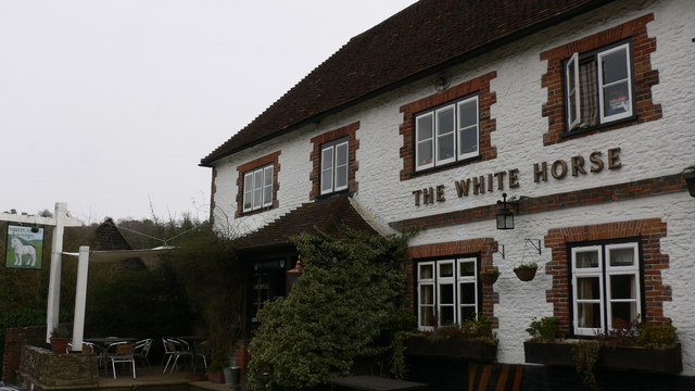 """The """"White Horse"""" at Hascombe"""