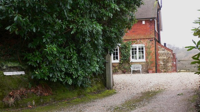 A glimpse of Hascombe Place Farmhouse