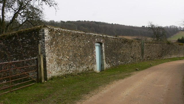 Wall at Hascombe Place Farm