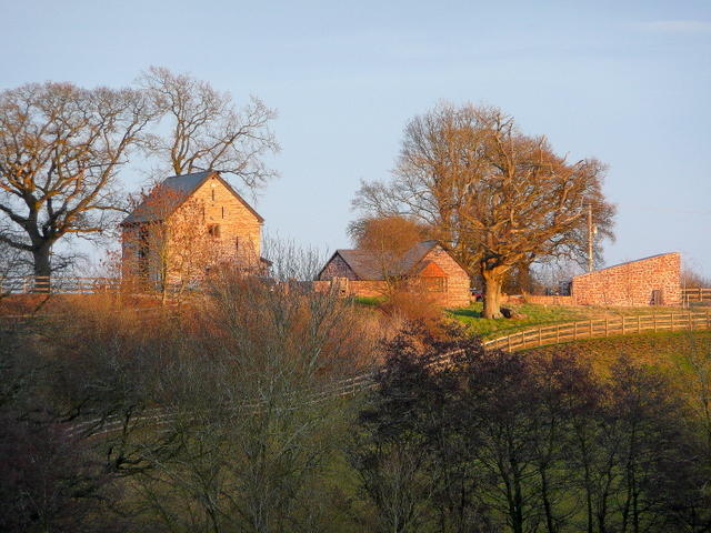 Converted barn; sunset