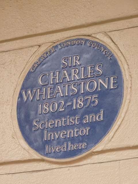 Blue Plaque - Sir Charles Wheatstone