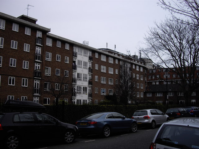 Rear of flats in Lucan Place
