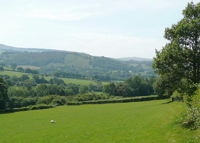 Afon Groes landscape east of Tregaron, Ceredigion
