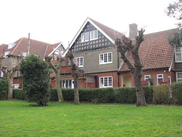 Houses adjoining the churchyard