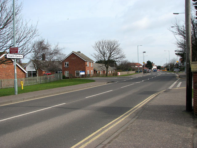 View east along Cromer Road (A149)