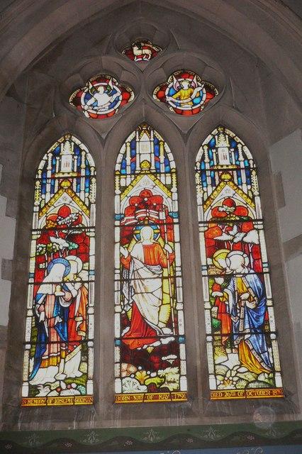 Lady chapel window at Hascombe church