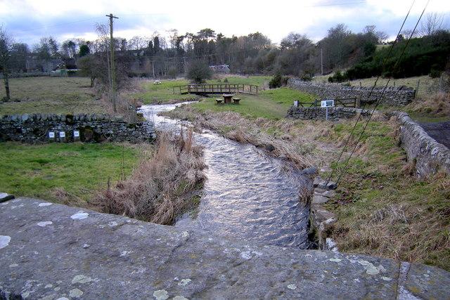 Vinny Water, Letham, Angus, looking upstream