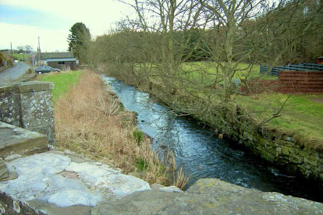 Vinny Water, Letham, Angus, looking downstream