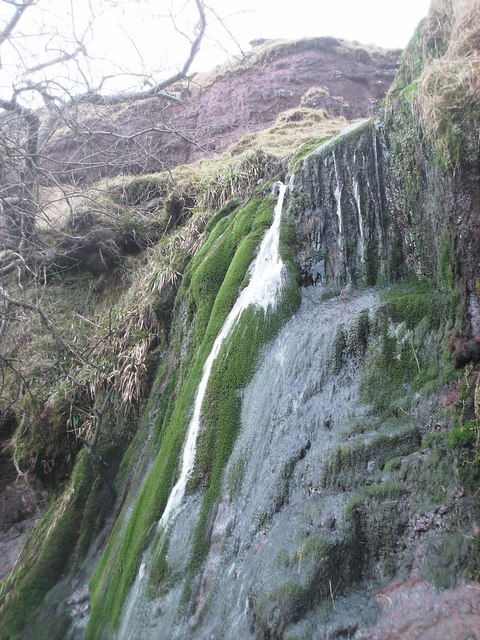 Lower waterfall on the Balmenoch Burn