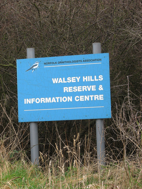Sign beside the path to Walsey Hills
