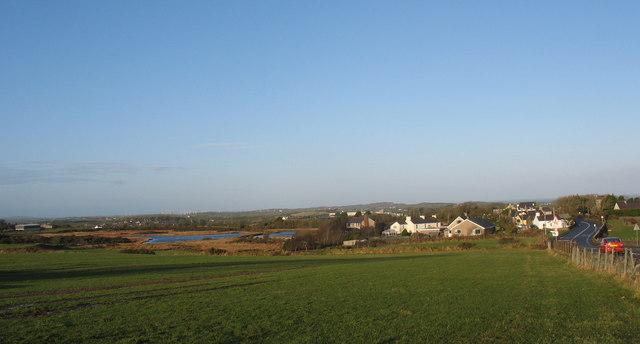 The hamlet of Cerrig-man from Croesau-gwynion Farm