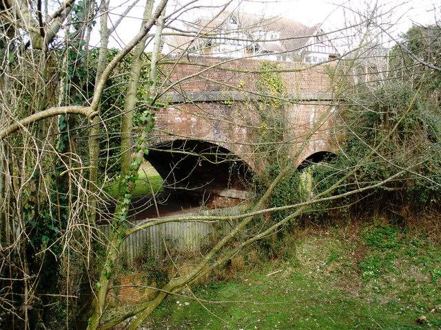 Bridge across the former branch line to Tipton St John