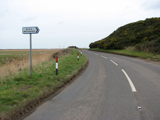 View east along the A149 (Coast Road)