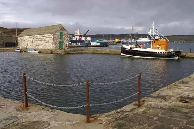 Dock beside Shetland Museum, Lerwick