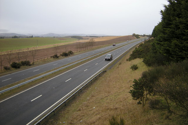 View of A90 Dual Carriageway looking northwards