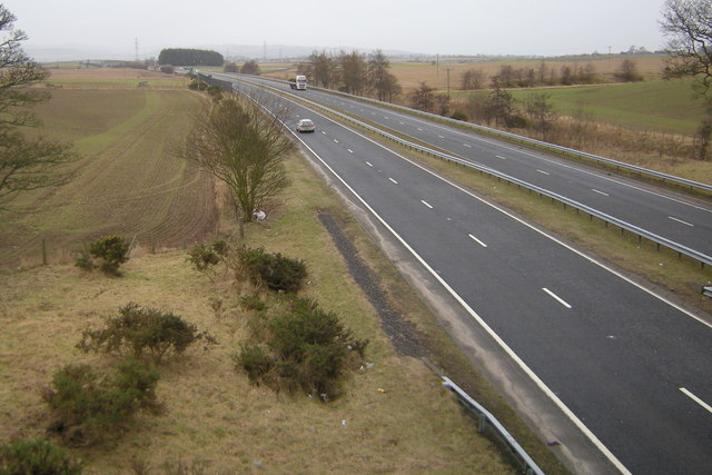 A View of the A90 Dual Carriageway looking southwards