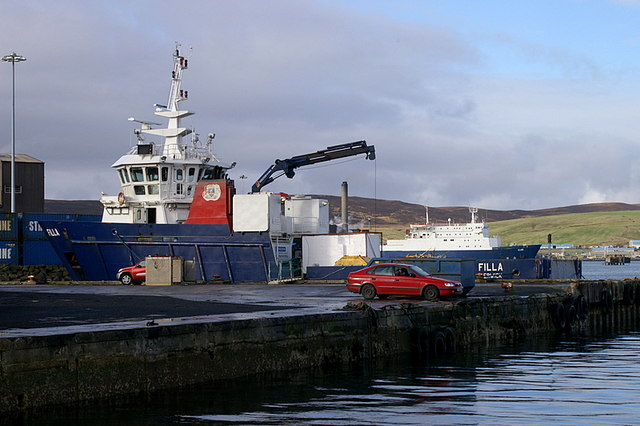 MV Filla at Hay's Dock, Lerwick