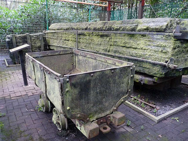 Grade II listed piece of coal, Bedwellty Park, Tredegar