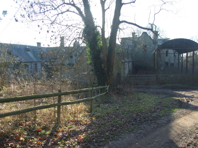 Disused stable block of Calwich Abbey