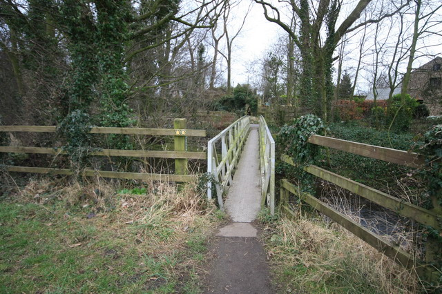 Footbridge over River Brock