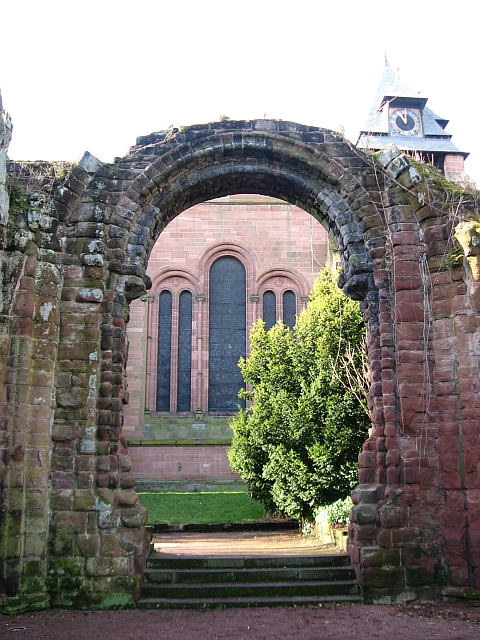 St John's Church, through the ruins of its former east end
