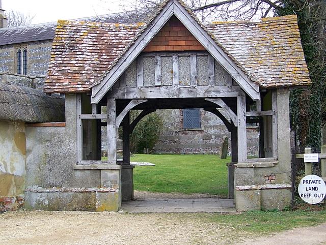 Lych gate, All Saints Church, Enford