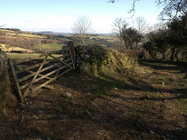 Gate by the bridleway