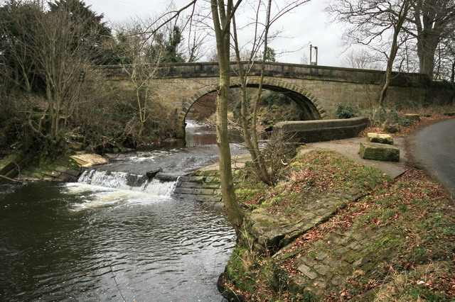 New Bridge and Weir at Brockside