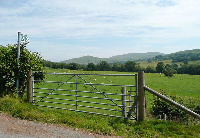 Farmland east of Tregaron, Ceredigion