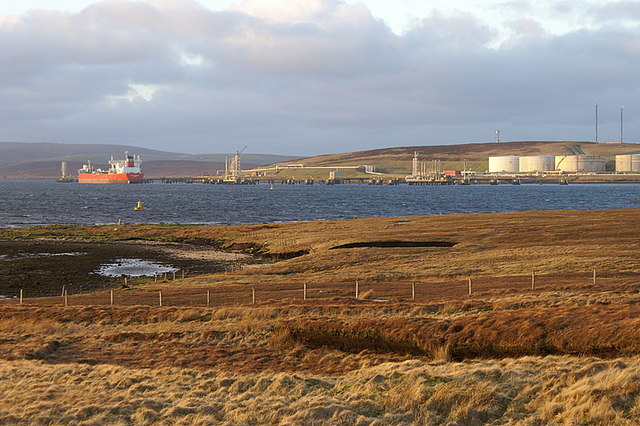 Sullom Voe Terminal from the Houb of Scatsta