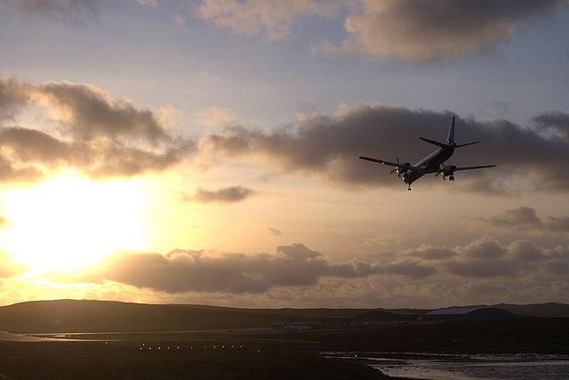Final approach, Scatsta Airfield