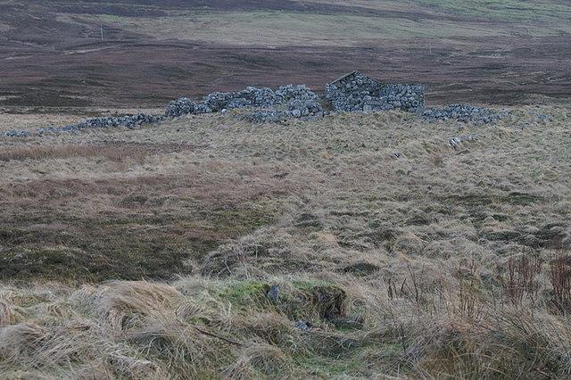 Ruin at Bordigarth, near Laxobigging