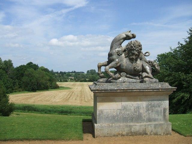 Rousham Gardens: 'Lion attacking Horse'