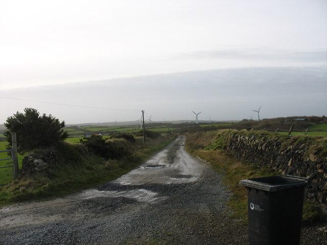 Lane leading to Taldrwst Bach Farm