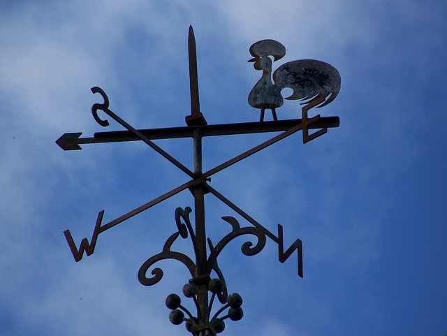 Weather vane, St John the Baptist Church