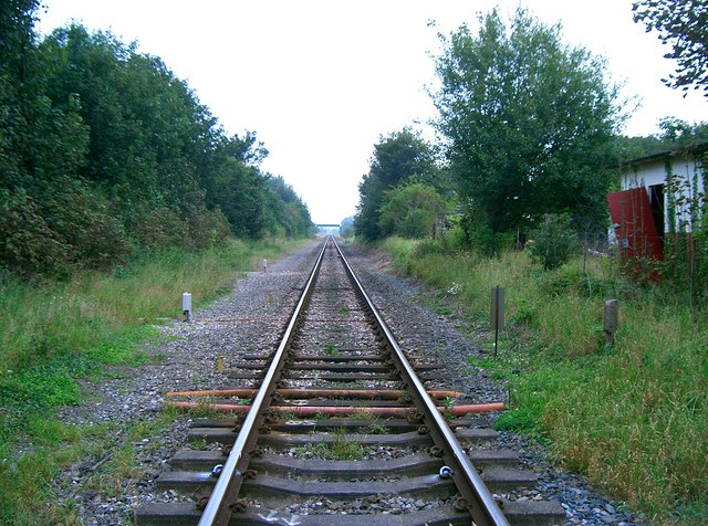 Remains of Rossett Station looking towards Chester