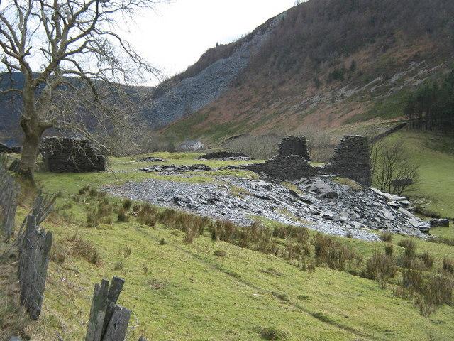 Ruin near Aberllefenni