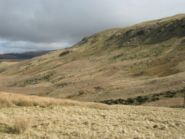 Looking towards Mynydd Ceiswyn