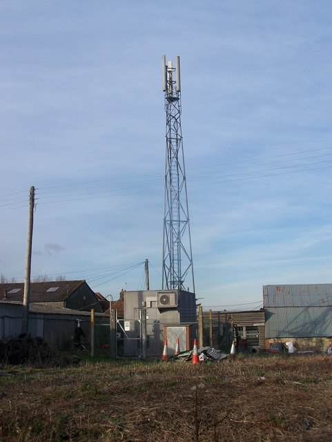 O2 Mobile Phone Mast in farm buildings