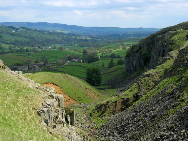 View down the valley of the Scar Beck below Holwick Scars