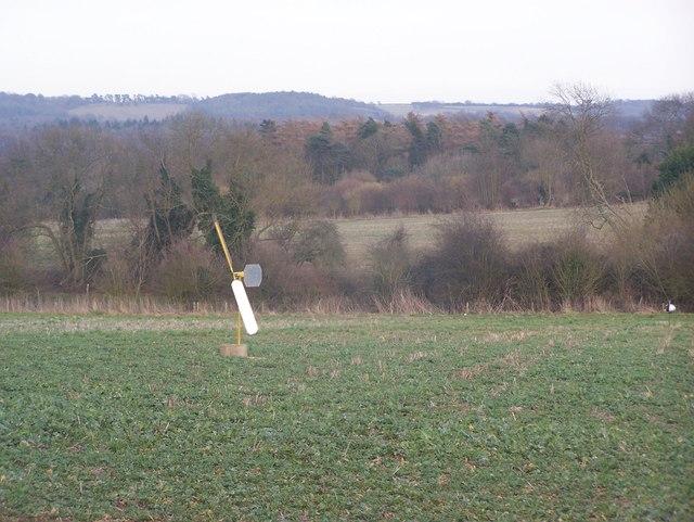 Small windmill in field