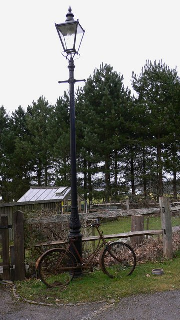 Lamppost on bridleway